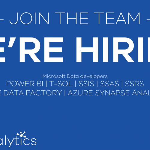 Cobalt Analytics is hiring Microsoft Data professionals. Contact us at info@cobaltanalytics.io with your CV and we will get back to you.